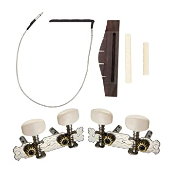 Sharplace Puente Piezo Selleta Cejilla Clavija Tuner para Ukelele - Ukulele Bridge w/Piezo Bridge