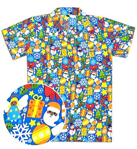 6d1c7d71 Virgin Crafts Christmas Hawaiian Shirts for Men Santa Claus Party Casual  Tropical Beach Shirt