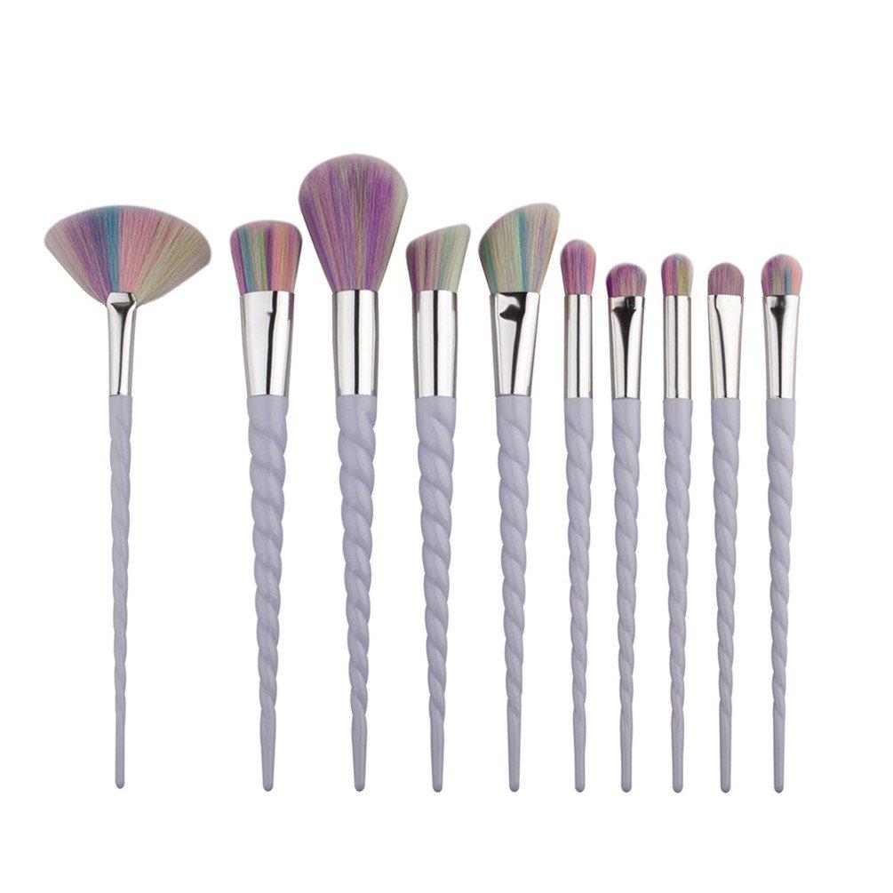 U-beauty® 10pcs Make Up Brushes Set Blending Powder Foundation Eye Contour Brush