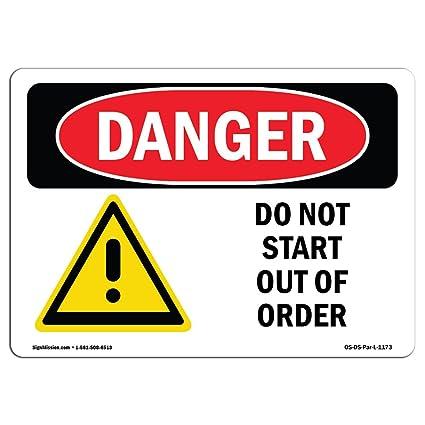 Letrero de Osha Danger - no empiece por orden - Elija de ...