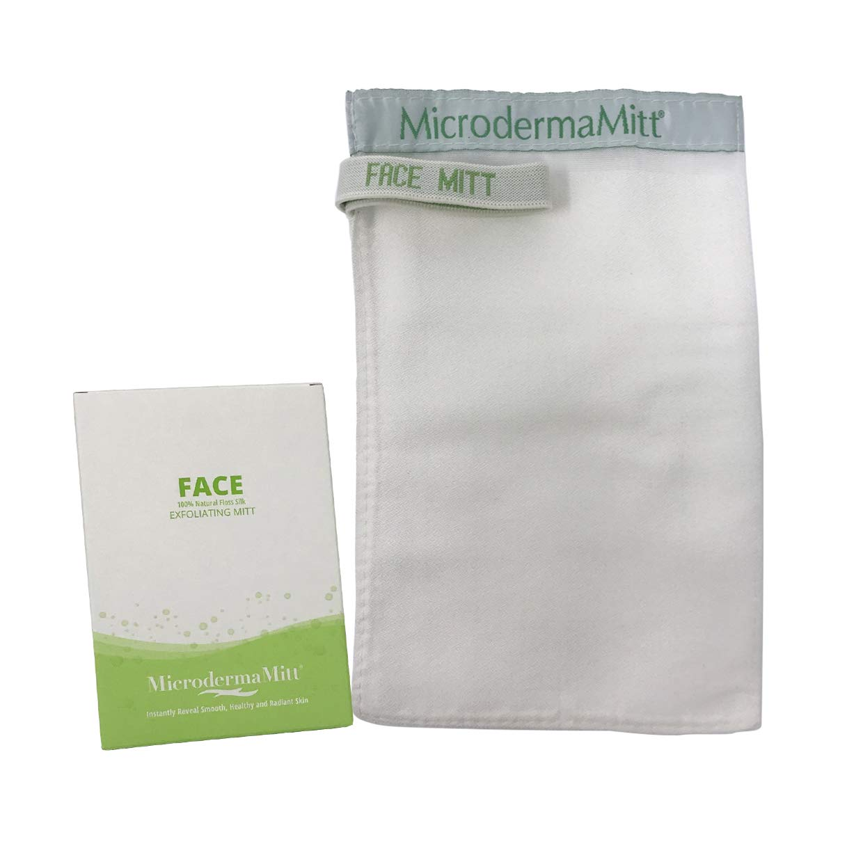 Microdermamitt Deep Exfoliating Face Mitt Firming Dry Skin Treatment-Unclog Pores, Repair Wrinkles, Sun Damage, Remove Imperfections and Invigorate Your Skin Inc. FM