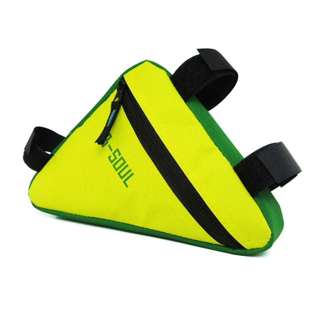 Chartsea B-SOUL Bicycle Front Frame Triangle Bag Cycling Bike Tube Pouch Holder Saddle Panniers (Yellow)