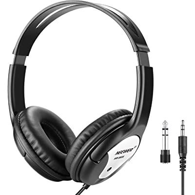 Neewer NW-960S Estudio Monitor Auriculares Plegables Dinámicos con 40mm Lohailer Driver, Cable Desmontable 3 Metros, Adaptador Enchufe 3,5-6,3mm para PC, Smartphones, MP3 (Negro)