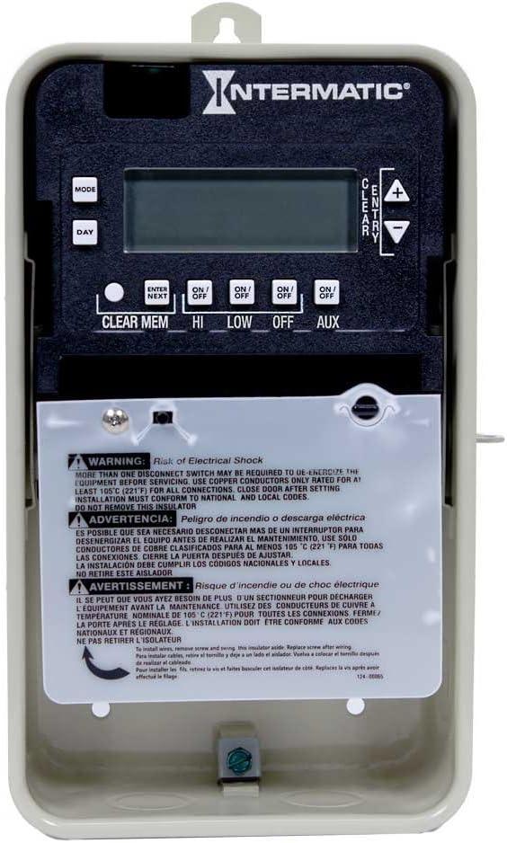 Intermatic PE103 Digital Seasonal Timer For Swimming Pool Spa Pump 1 Or 2 Speed