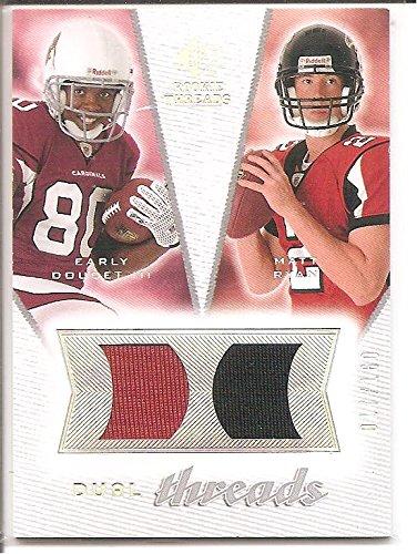 Matt Ryan Atlanta Falcons 2008 Upper Deck Rookie Threads 2-Color Dual Jersey Rookie Football Card #17/160 w/ Early Doucett (160 Rookie Football Card)
