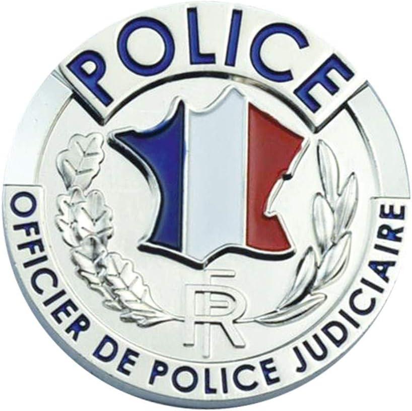 Porte Carte Cuir Format CB Billet avec Insigne Police