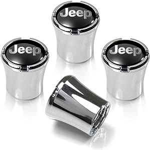 Jeep Grill White Wheel Air Tire Valve Stem Cap Black ABS Plastic Genuine