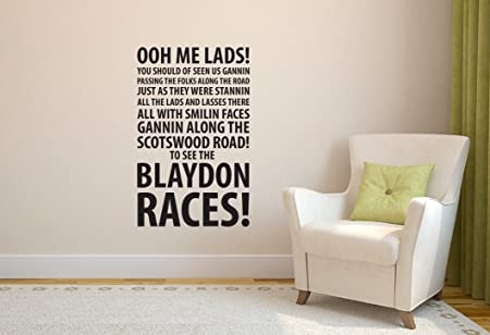 Newcastle blaydon races football wall sticker decal football art print for home bedroom mural black