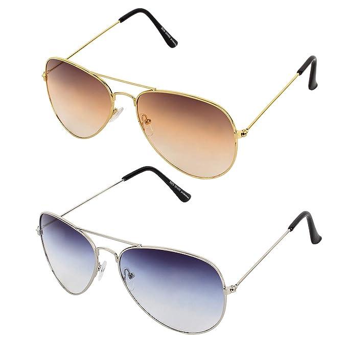 f655dac656e Sheomy Unisex Combo Pack of Aviator Sunglasses for Men and Women - Mirrored  Sunglasses (Black Black - Mercury Blue) (CM-NEW-AV-0051) Best Online Gifts   ...