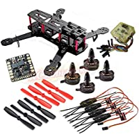 powerday Replacement QAV250 Carbon Quadcopter kit+ X2204S 2300KV Brushless motor+Simonk 12A ESC +CC3D FC +5045 Props+ Matek Power Hub Board