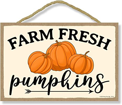 Farm Fresh Pumpkins Printable Wall Art Thanksgiving Farmhouse Decor Pumpkin Patch Rustic Decor Autumn Decor Wall Hanging Fall Decor