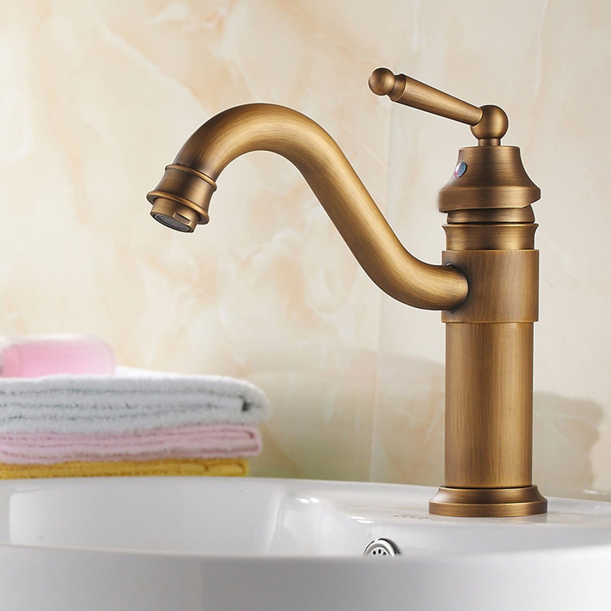 SADASD Contemporary Bathroom Full Copper Basin Faucet Black High-Basin Sink Mixer Tap Ceramic Valve Single Hole Single Handle Cold Water With G1 2 Hose