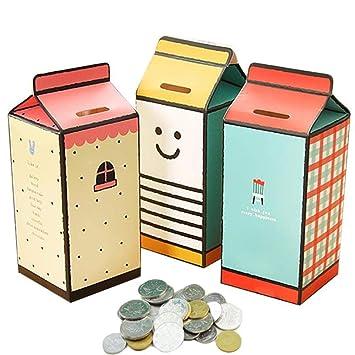 UMIMEE 3 UNIDS Diseño de Leche Caja de Dinero Monedero DIY ...