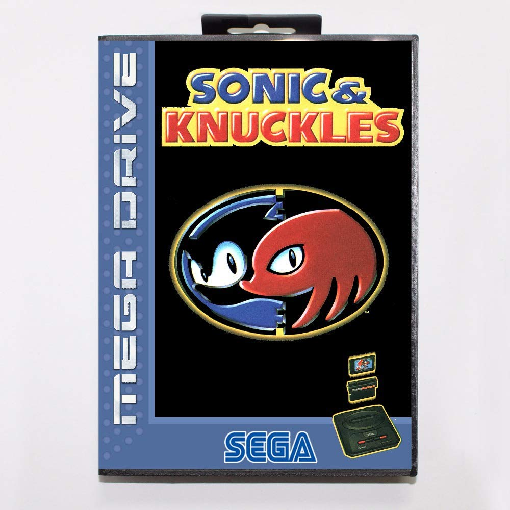 ROMGame Sonic And Knuckles Game Cartridge 16 Bit Md Game Card With Retail Box For Sega Mega Drive For Genesis