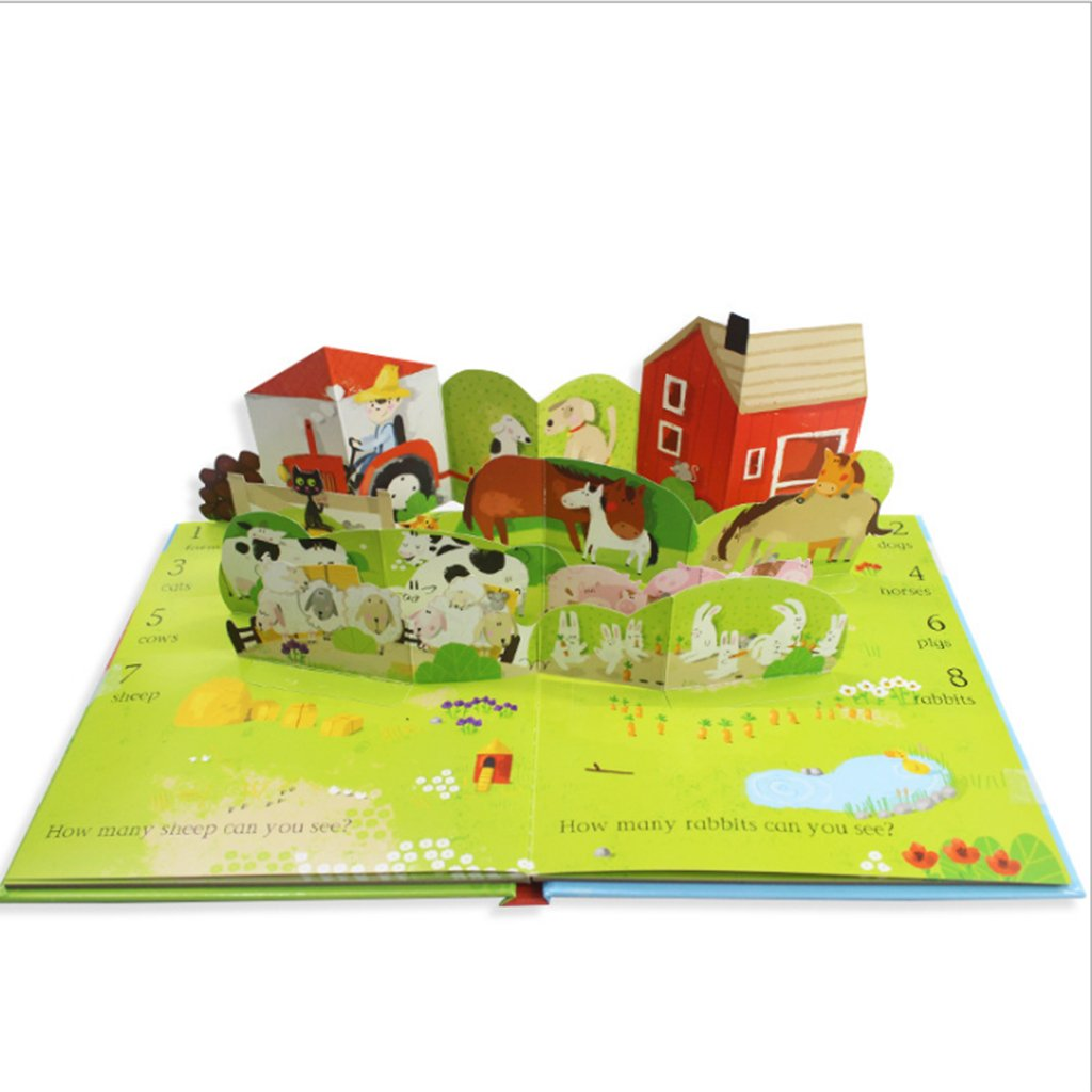 Fityle 3D Pop Up Books for Kids Boys Girls (Story Book, Baby Book, Children's Book) - A busy farm by Fityle (Image #3)
