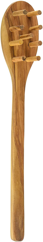 Eddington 50016 Italian Olive Wood Pasta Server, Handcrafted in Europe, 12-Inches