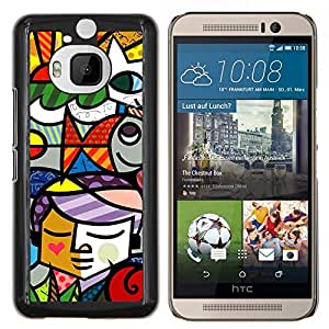 "Be-Star Único Patrón Plástico Duro Fundas Cover Cubre Hard Case Cover Para HTC One M9+ / M9 Plus (Not M9) ( Ventana cubista del collage del vitral"" )"