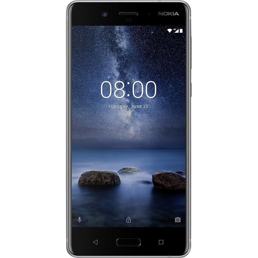 "Nokia 8 4G 64GB Grey - Smartphones (13.5 cm (5.3""), 64 GB, 13 MP, Android, 7.1.1, Grey) [Germania]"