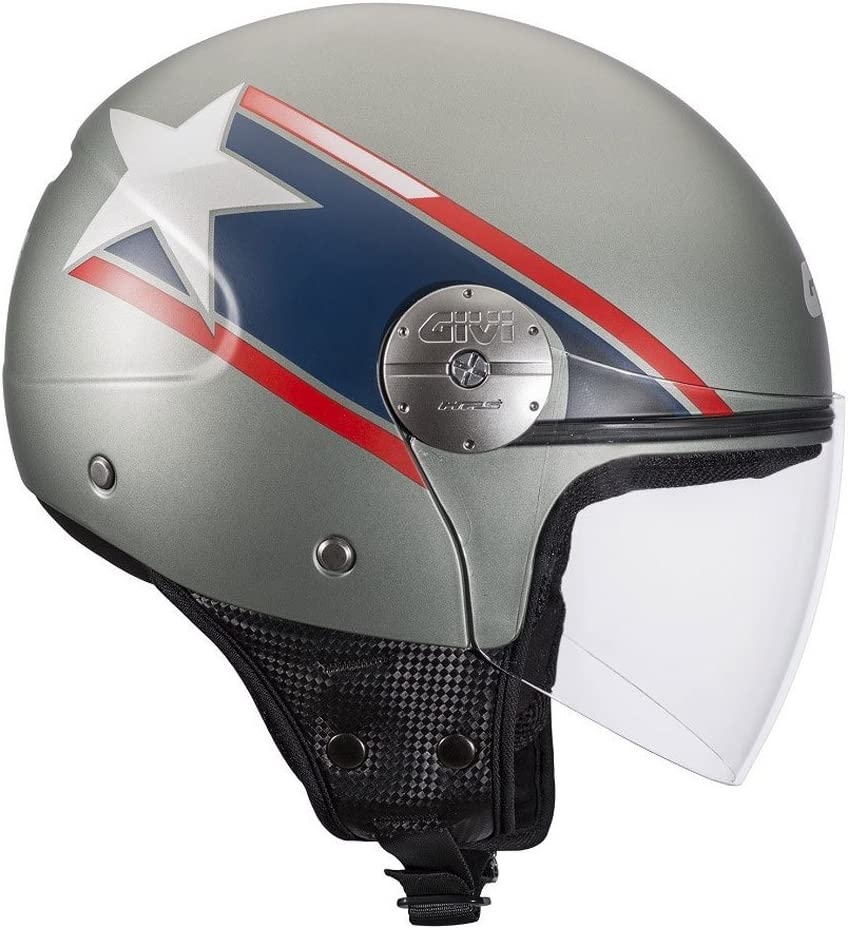 Givi HPS 10.7 Mini-Jet-Helm Schwarz Matt 56