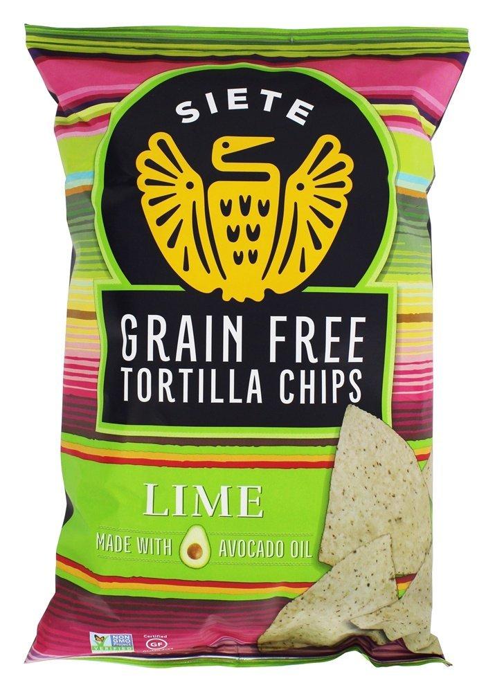 Siete Lime Flavor Tortilla Chips, Grain Free, Paleo, Vegan - 5 Ounce (1 Pack)