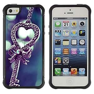 Suave TPU Caso Carcasa de Caucho Funda para Apple Iphone 5 / 5S / Love cute / STRONG