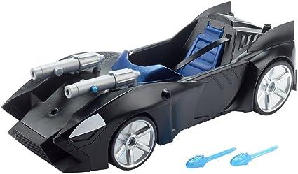 Mattel FDF02 Batman FDF02-DC Justice League Doppelblaster-Batmobil, 30 cm, Black