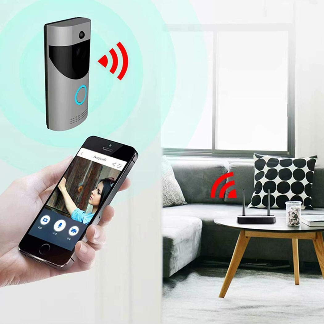 Erholi Home Alarm Smart Wifi Wireless Video Intercom Doorbell Kits by erholi (Image #2)