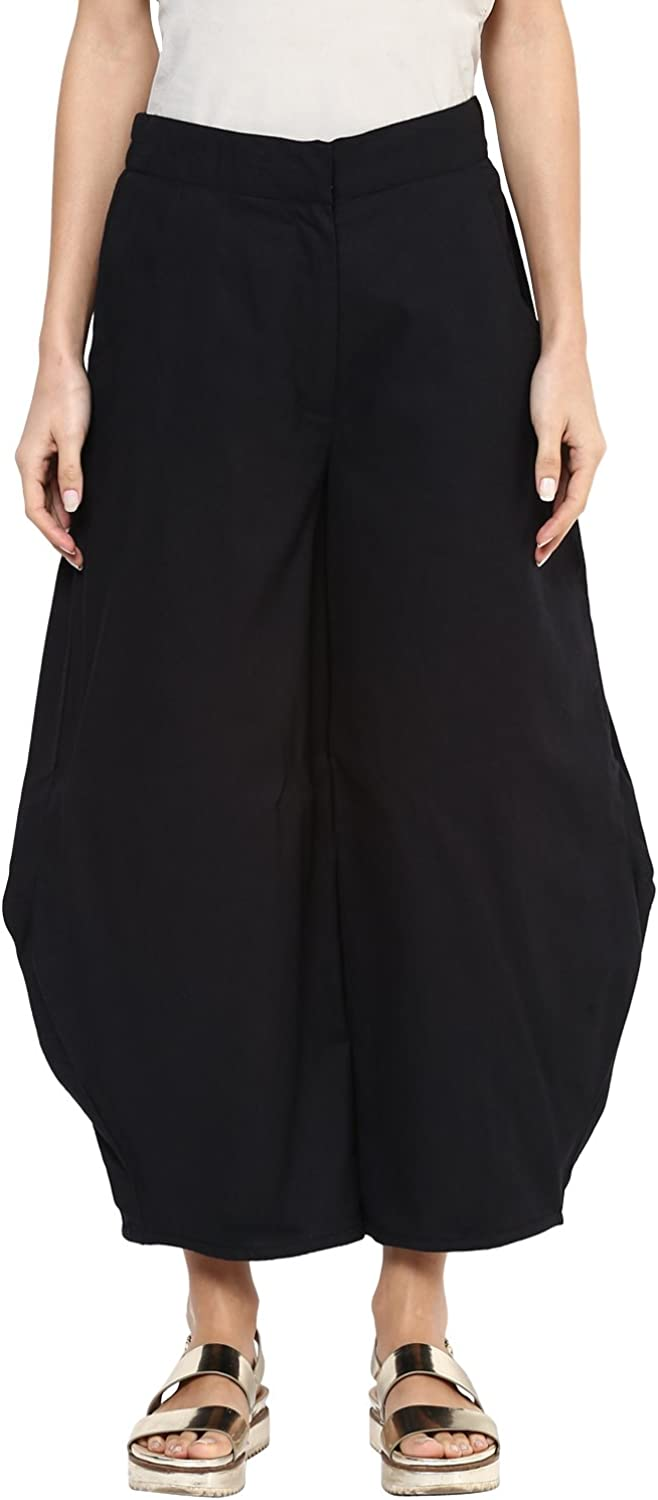 SCARLET ROSS Black Cotton Made Statement trousers for girls and womens