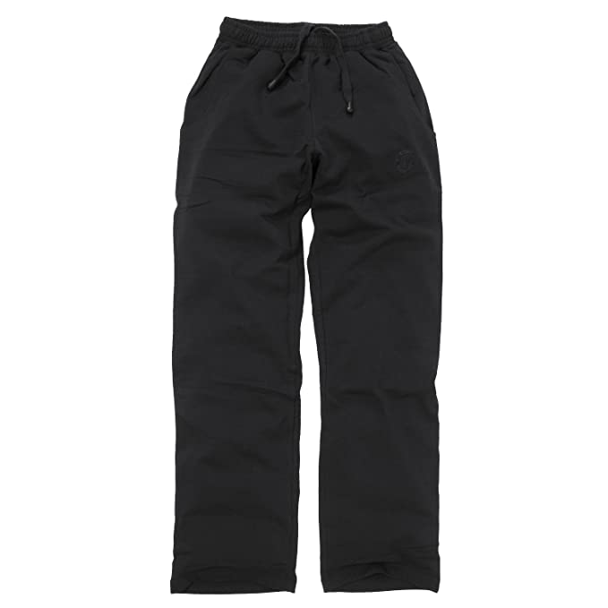 Negro Pantalón Chándal de Ahorn Sportswear Hasta 10 XL: Amazon.es ...