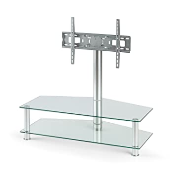 Design tv möbel glas  auna LCD Plasma TV Rack modernes Aluminium: Amazon.de: Elektronik