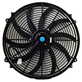 large 12v fan - Upgr8 Universal High Performance 12V Slim Electric Cooling Radiator Fan With Fan Mounting Kit (16 Inch, Black)