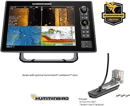 Humminbird Solix-10 Chirp with Mega SI+ Fishfinder GPS Combo G2 (Humm-411010-1) on