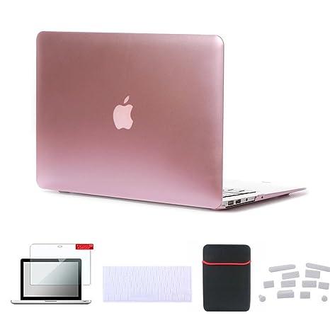 cheap for discount 41c97 99bfa Amazon.com: Se7enline Macbook Air 11.6 Case Soft Touch Plastic Hard ...