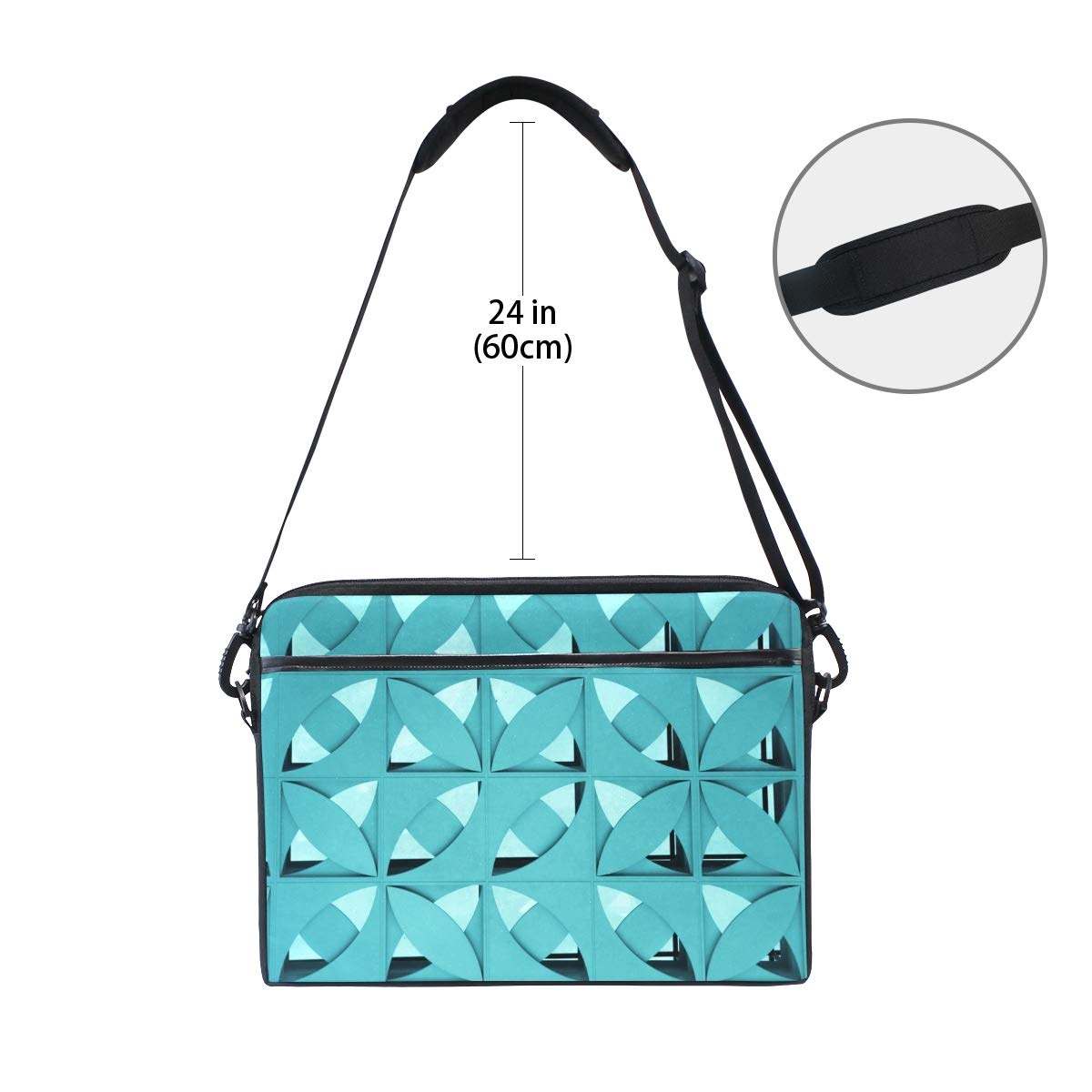 Shoulder Bags Interlaced Circle Mens and Womens Computer Bags Handbags Briefcases Suitable for 15 Inch Computers
