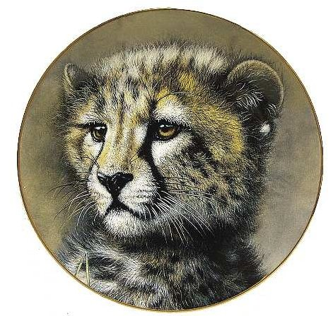 (Limited Edition Collectible Plate - CHEETAH CUB - Princeton Gallery Big Cat Plate Collection)