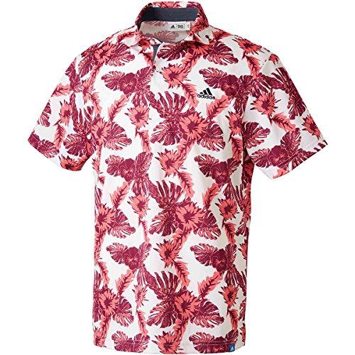 礼拝性交薄いアディダス Adidas 半袖シャツ?ポロシャツ ADICROSS ボタニカルプリント 半袖ポロシャツ