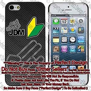 Eat Sleep JDM Carbon Carbon Fiber Pattern iphone 4/4s Case by ruishername