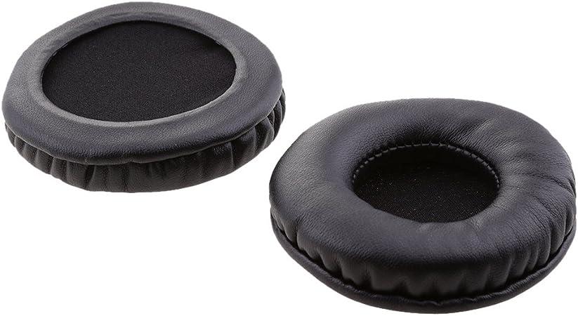 2 paar Ersatz Ohrpolster Ohrkissen für Kopfhörer Durchmesser von 78mm-82mm