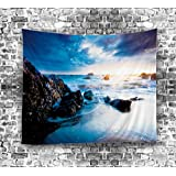 Izielad Nature Reef Cloud Sea Wall Hanging Tapestries