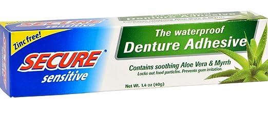Secure Denture Adhesive >> Secure Denture Adhesive Sensitive 1 4 Ounce