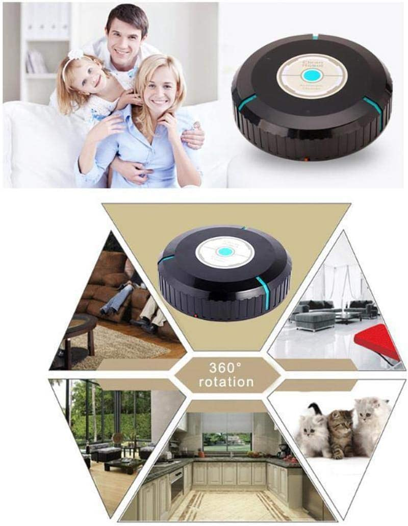 ThinIce Upgraded Pure Clean Smart Robot Vacuum Sweeper Cleaner, Mini Automatic Induction Sweeping Robot Floor Cleaning Sweeping Robot - Rechargeable Type, White 51ZHKYPOnQL