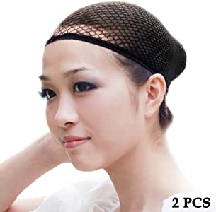 ewinever(R) 2pcs Wig Cap Hair Net Cover Halloween Costume Adult Womens Mens Kids Childrens