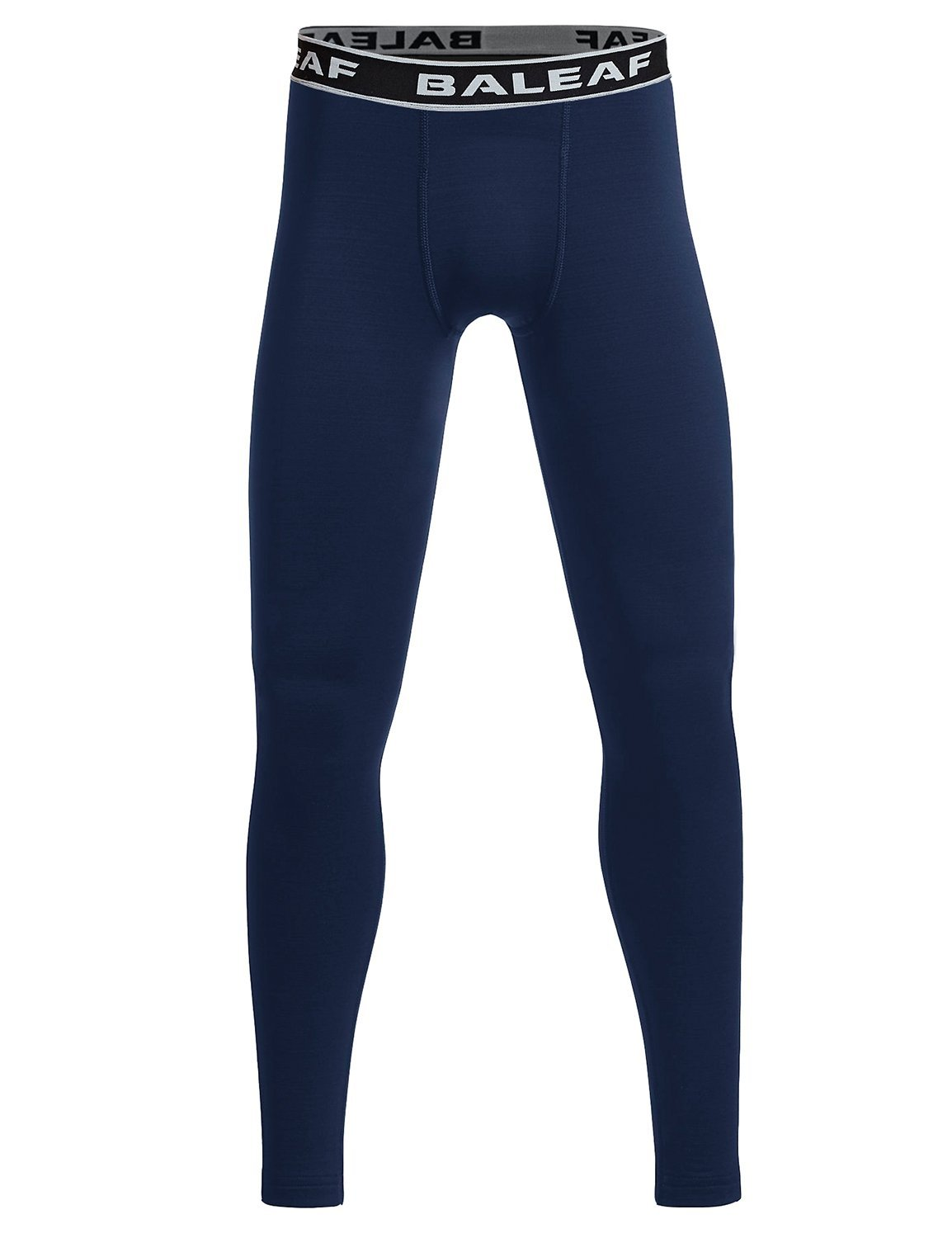 Baleaf Youth Boys' Compression Thermal Baselayer Tights Fleece Leggings Navy Size S