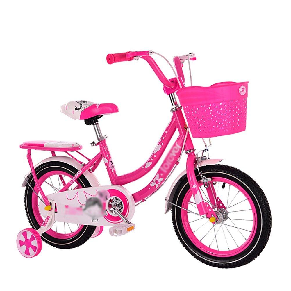 子供用自転車2-3-6-7-8-10歳の少年と少女の赤ちゃんキャリッジペダル12 14 16 18インチ自転車ブルーピンクローズ赤 B07DVDYF3Yローズレッド 18 inch