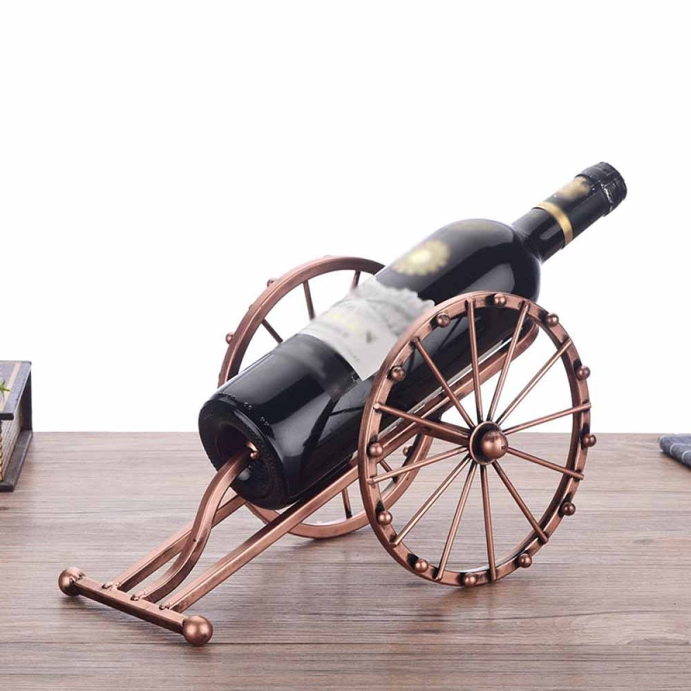 DZX Wine Rack Iron Art Ancient Cannon Bottle Shelf Vintage Nostalgia Personality Creativity Shelf Restaurant Hotel Cafe,A