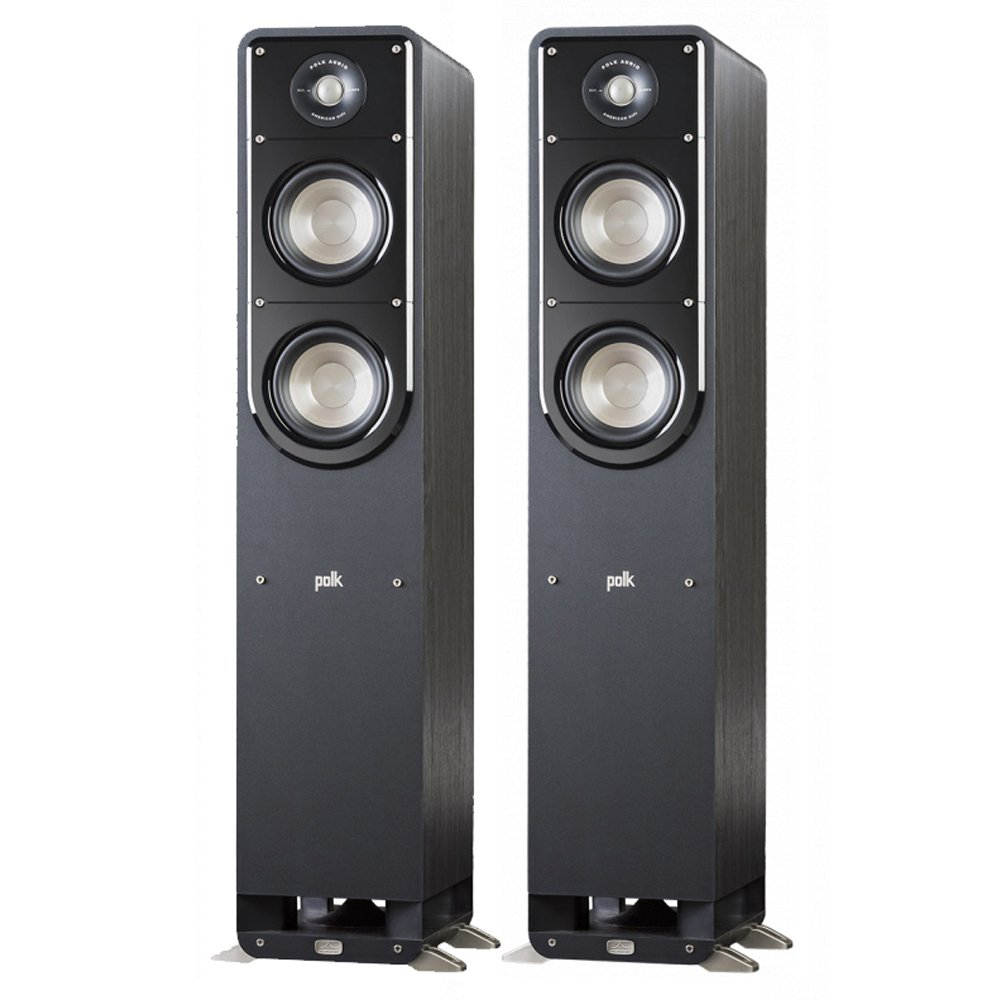Polk Signature S55 American HiFi Home Theater Tower Speaker (Pair, Black)
