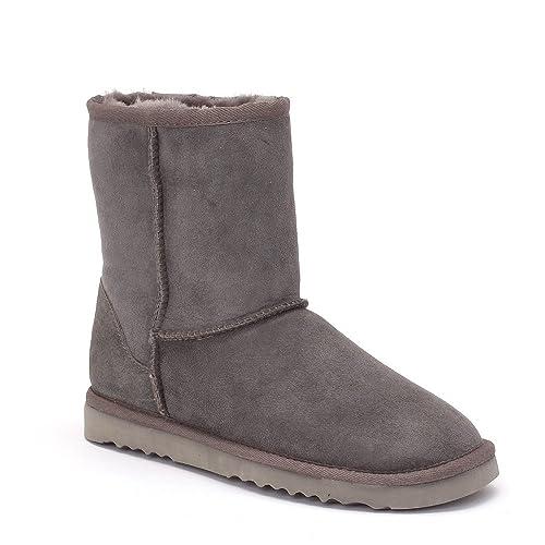 07aebf36668 Sheep Touch Women's Classic Short Twin-Face Sheepskin Boots Grey