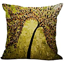 Oil Painting Floral Printing Stuffed Cushion LivebyCare Linen Cotton Cover Filling Stuffing Throw Pillow Insert Filler Pattern Zipper For Dinning Room Kitchen Chair Back Seat
