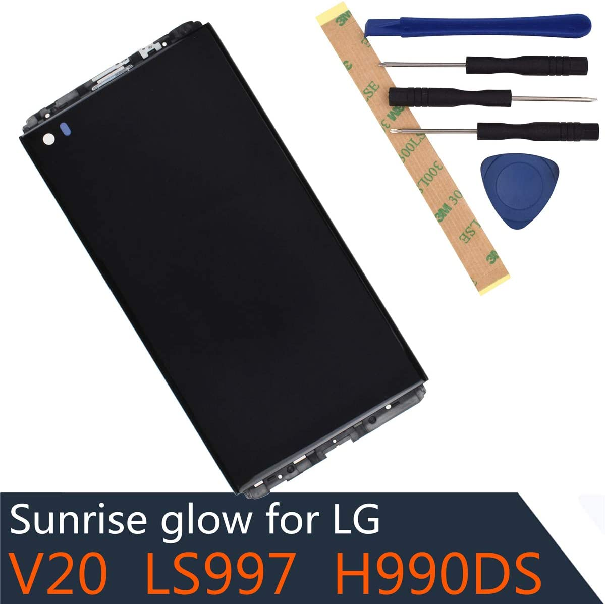 H910 LCD Display Digitizer Touch Screen Assembly Compatible with LG V20 LS997 US996 VS995 H990T H990DS H990N with Frame