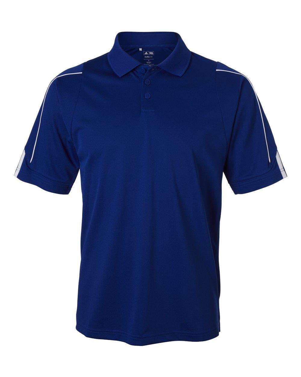 Adidas Men's ClimaLite 3 Stripes Cuff Polo Shirt, Small, COLLEGIATE ROYAL/WHITE